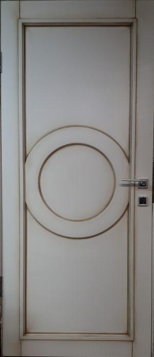 Межкомнатная дверь в профиле массив (эмаль с патиной) Балаково
