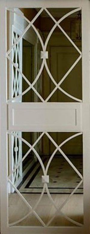 Вставка с фигурной филенкой на зеркале эмаль Балаково