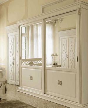 Шкаф купе с филенкой и декоративной накладкой эмаль Балаково